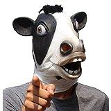 CreepyParty Máscara de Cabeza Animal de Látex de Fiesta de Halloween de Novedad Cabeza Vaca Máscara de Carnaval
