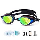 UTOBEST Gafas de natación miope Anti miopía Gafas de natación óptica 100% Protección UV Triatlón Gafas de natación para Hombres Adultos Mujeres Junior