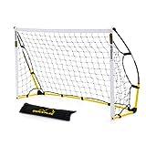 Kickster Academy - Portería portátil, color amarillo, 2,4 x 1,5 m