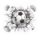 Fablcrew Pegatinas de Pared con Patrón de Fútbol para Decoración de la Habitación del Adolescente