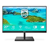 Philips 275E1S/00 - Monitor Profesional de 27' QHD (2560x 1440, 75Hz, IPS, FreeSync, D-Sub, HDMI, Displayport 1x1.2, LowBlue Light) Negro