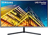 Samsung LU32R592CWRXEN - Monitor Curvo sin marcos de 32'' 4K 3840x2160, LED, UHD, 60Hz, 4ms,1500R, 2500:1, ajuste de inclinación, Gaming, Gris Oscuro
