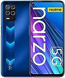 realme Narzo 30 5G Smartphone, Móvil 4GB + 128GB, Dimensity 700 5G Teléfono Móvil 6.5 '', 48MP Triple Camera, 5000mAh Battery, 18W Fast Charge, Android 11, Dual Sim + Micro SD, Versión de EU (Azul)