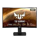 Asus VG32VQ TUF Gaming - Monitor curvo Gaming de 32' WQHD (2560x1440, 144 Hz, 1 ms, 16:9, 3000:1, IPS, 1800R, ELMB SYNC, Adaptive-Sync, HDR10, MPRT, DVI, HDMI, USB, DisplayPort) Negro
