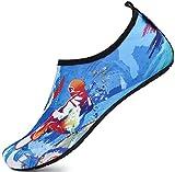SAGUARO Escarpines Hombre Mujer para Buceo Snorkel Surf Natación Piscina Vela Mares Rocas Río Zapatos para Agua Calzado Playa Zapatillas Deportes Acuáticos(014 Multicolore, 38/39 EU)