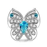 NINAQUEEN Charm Encaja con Pandora San Valentín Regalos Mujer Originales Mariposa Animal Plata 925 Abalorios