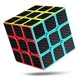 cfmour Cubo de Mágico, 3x3x3 Fibra de Carbono Suave Magia Cubo de Mágico Rompecabezas 3D Cube, Versión Mejorada, 5.7cm (Negro)