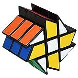 Coolzon Puzzle Cube Fenghuolun Especial Juego de Puzzle PVC Adhesivo 57mm, Negro