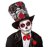 Wicked Unisex Sombrero Copa Voodoo Cráneos Rosas día Todos Santos Accesorio Partido