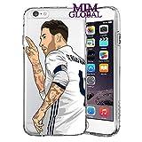 MIM Global Football Futbol Soccer Protectores Case Cover Compatible para Todos iPhone (iPhone 7/8, Ramos)