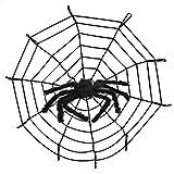 Halloween de la araña Decoración Atrezzo, Saienfeng Decoración de Halloween Furry Fuzzy Espeluznante Araña Prop Color Negro