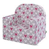 lulando m00008501Classic Baby, niños sofá Mini Sillón Niños Muebles para parte habitaciones y habitación de los Niños, Hearts, Gris