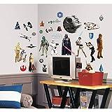 Star Wars RMK1586SCS Juego de Pegatinas de Pared Roommates, Black, Brown, Gray, Blue, Green, Red, Purple, Estándar