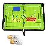Carpeta para entrenador profesional de fútbol con tácticas,  imanes, rotuladores, goma de borrar y silbato