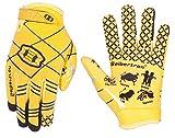 Seibertron Pro 3.0 12 Constelaciones Elite Ultra-Stick Sports Receiver Glove American Football Gloves Youth and Kids/Guantes de fútbol Americano para Juventud y niños (Amarillo, S)
