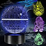 Lampara 3D, 5 Pack 3D Lampara Noche 4 Modos de Flash y 16 Colores Lámpara de Ilusión Regalo Perfecto para Niños y Fanáticos