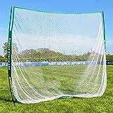 FORB Red de Golf Portátil para Entrenamiento en el Jardín (2,1m x 2,1m) – Malla de Practicas en Casa o en el Campo – Entrenar Solo